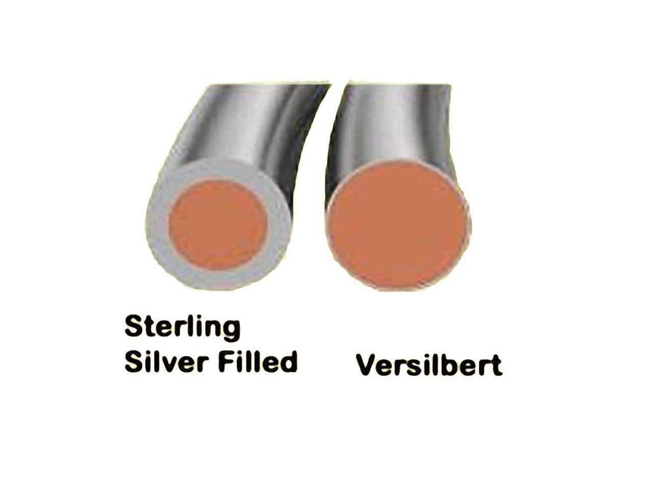 Silber-filled Draht 0,8mm dick und 3m lang
