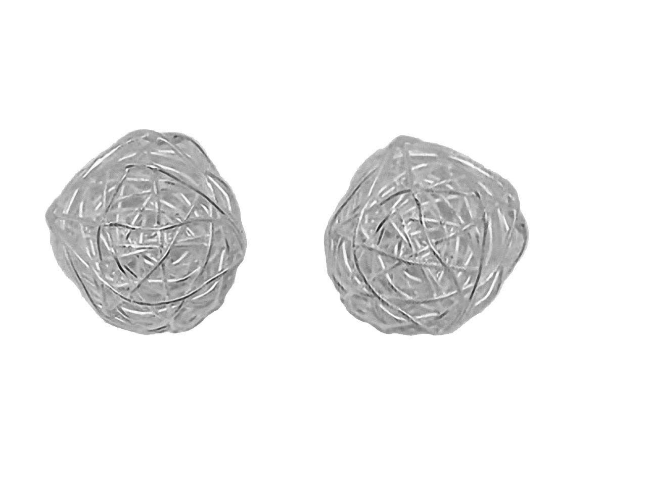Draht Perlen aus 950 Silber, 22mm