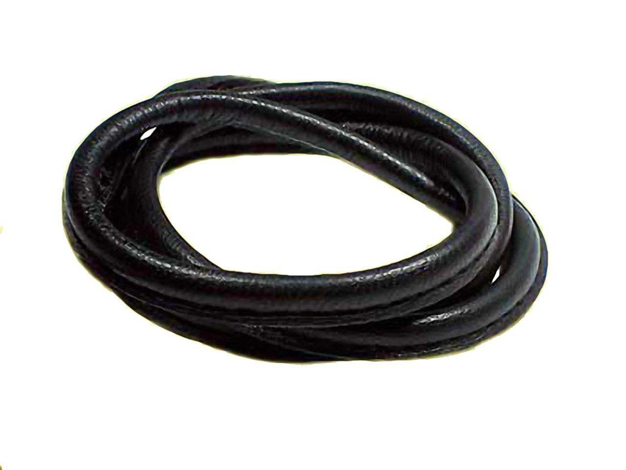 sports shoes 6c334 11bd5 Nappa Lederband rund gesäumt schwarz 5mm