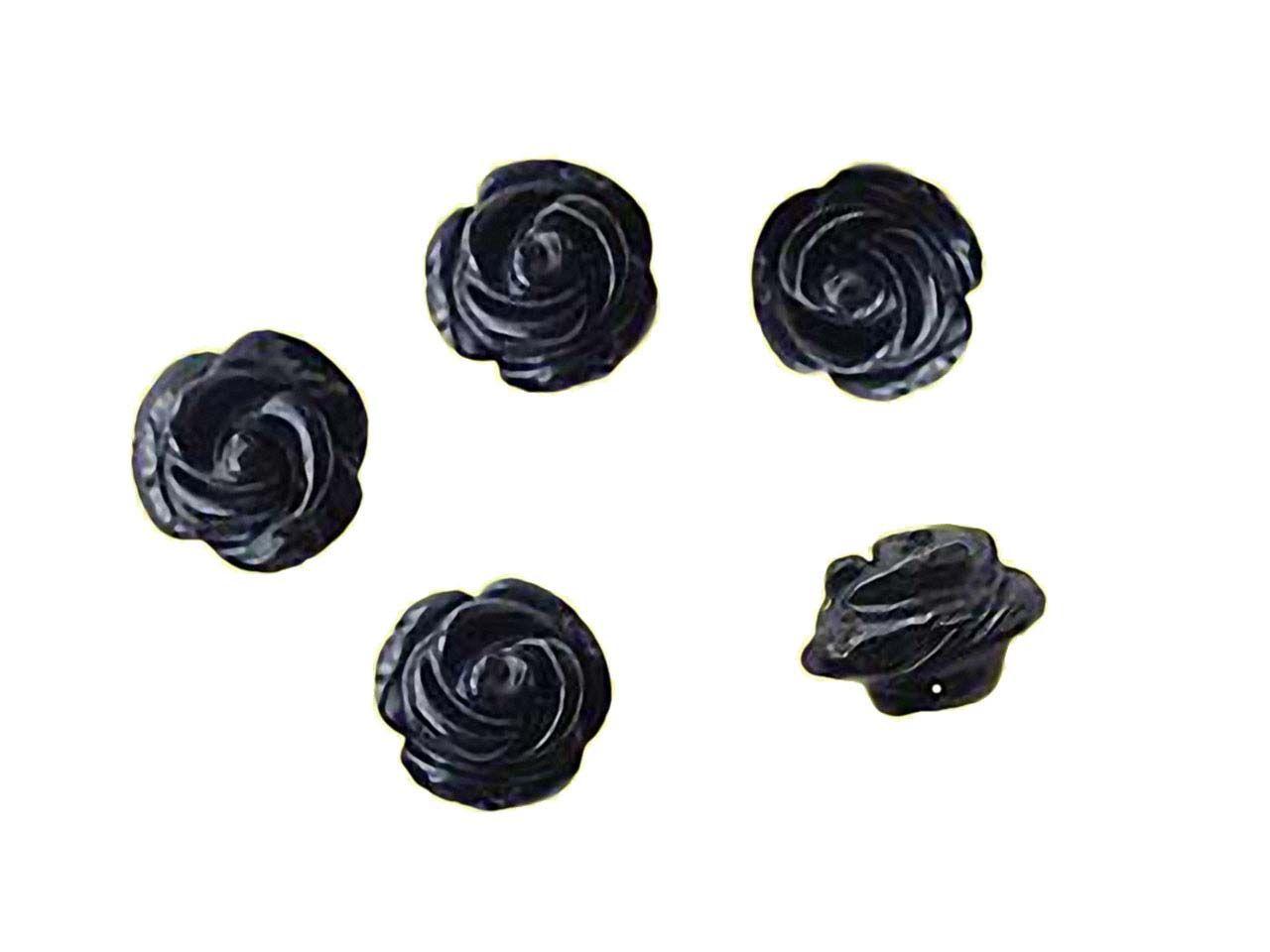 perlen schwarze achat rosen 12mm. Black Bedroom Furniture Sets. Home Design Ideas