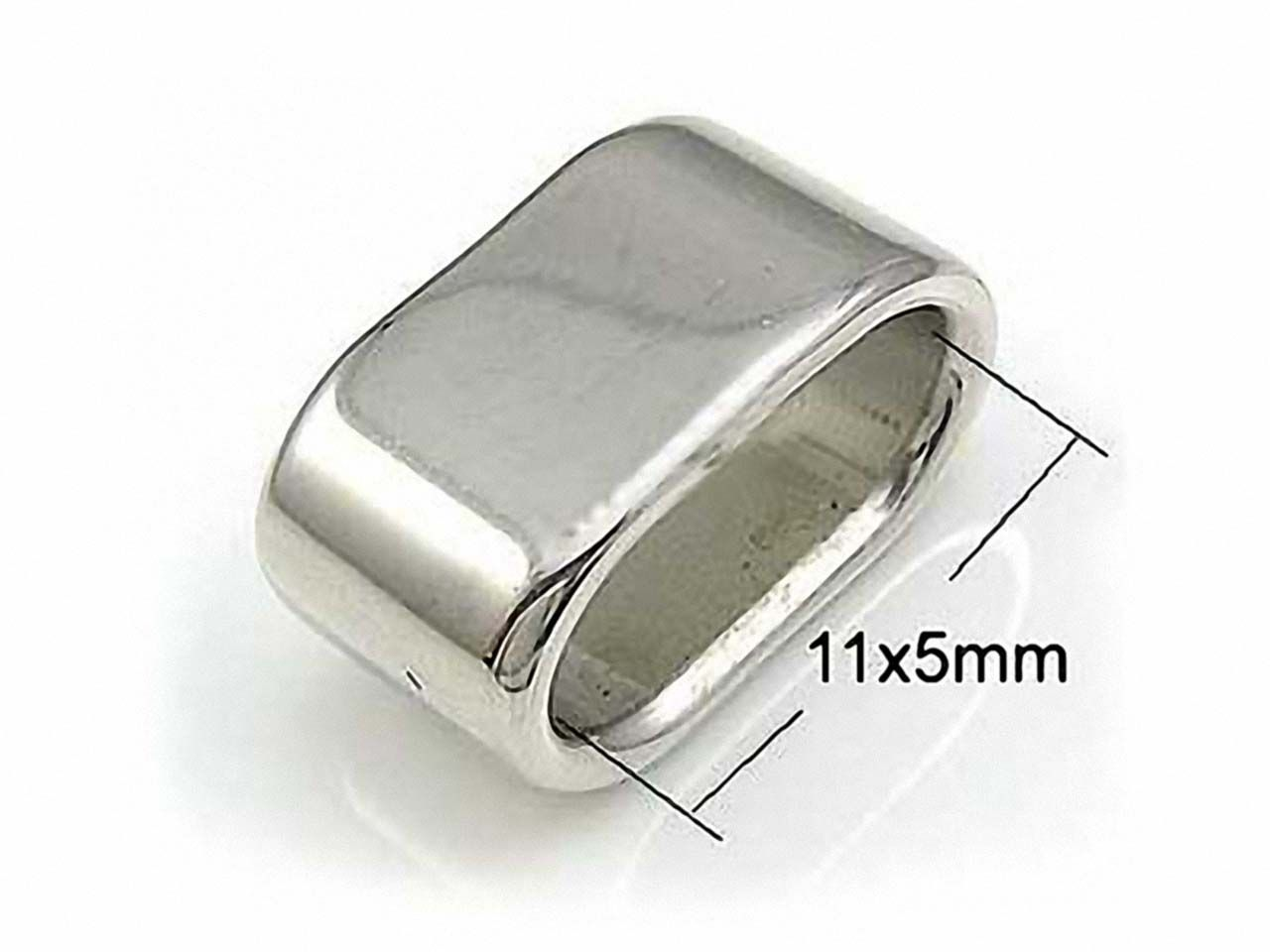 ring oval grosslochperle edelstahl 14mm. Black Bedroom Furniture Sets. Home Design Ideas