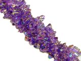 Glass chip beads amethyst ab