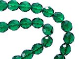 Faceted Glassbeads Emerald 12mm