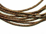 leathercord braided antique 3mm light brown