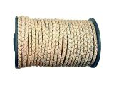 Spool Leathercord Braided Natural 6mm