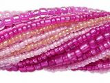 Seed Bead Mix Fuchsia