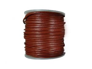 10m Lederband 2mm Cognac