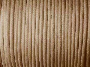Cotton Cord 2mm Tan Brown Standard