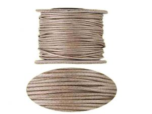 Woven Cotton Cord Tan 1mm