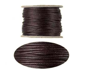 Woven Cotton Cord Brown 1mm