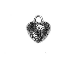 Stainless Steel Ornamental Heart Charm