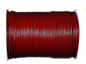 Lederband 2mm bordeaux 10m