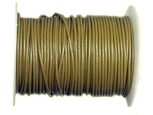 Lederband 2mm khaki 10m