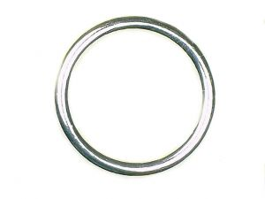 Ring glatt Acryl versilbert 35mm
