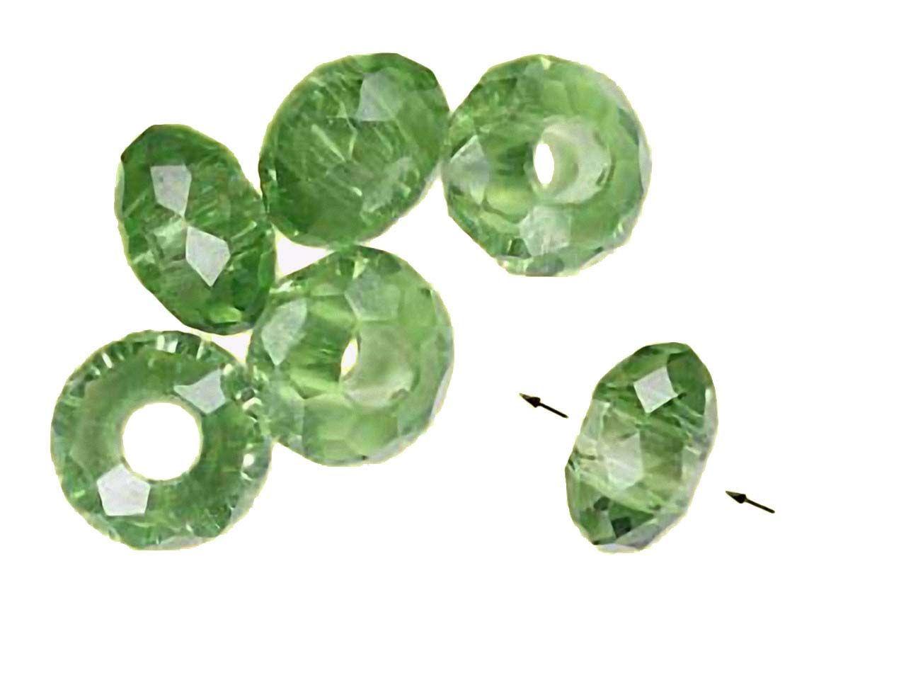 Magic and Arts Grossloch Perlen Kristallglas Saphir