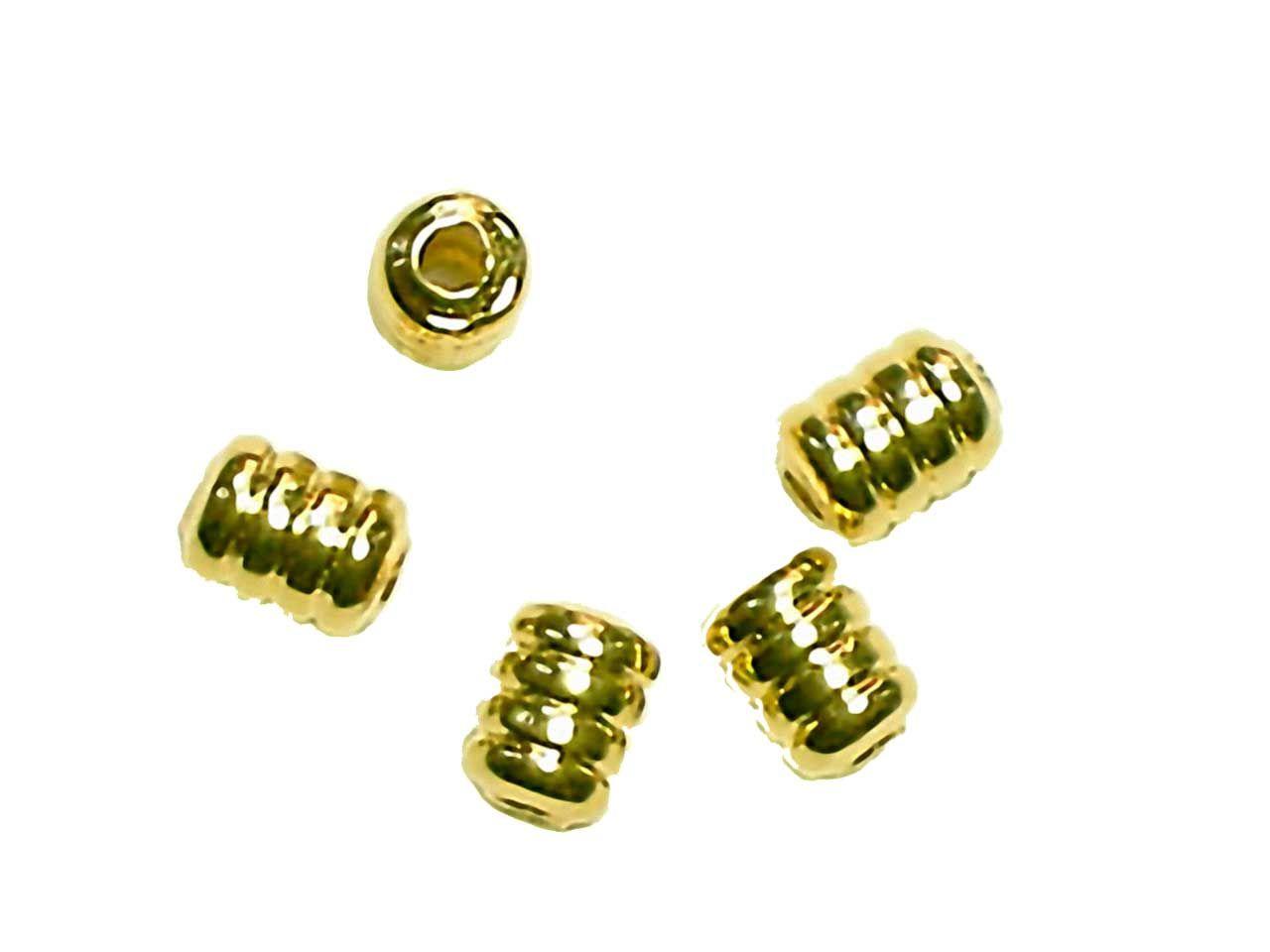 Inhalt 20 St/ück Goldkopfperlen Messingperlen echt vergoldet Farbe Gold 2,8 mm