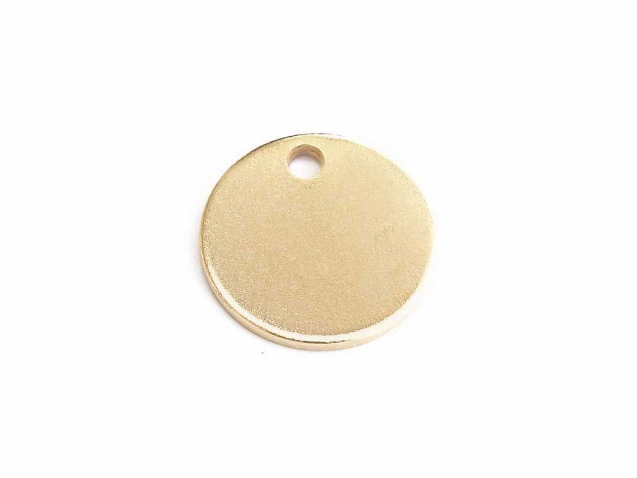 Logoanhänger 15mm Edelstahl vergoldet 1mm dick 10 Stck