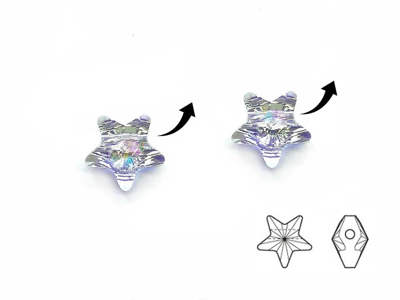 Perle Stern Swarovski Crystal Ab