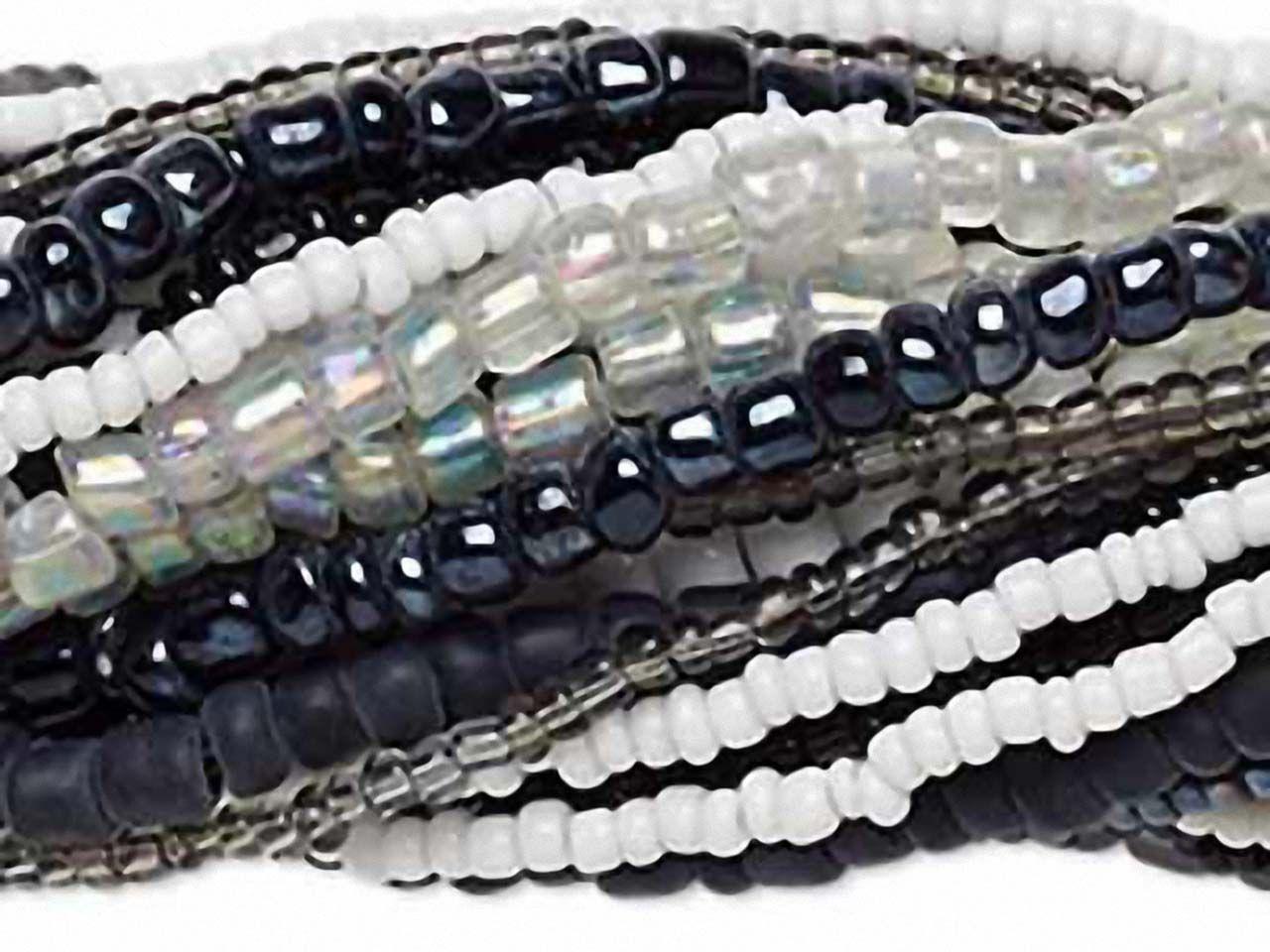 Berühmt Rocailles Perlen Mischung Schwarz-Weiss NW88