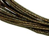 10m Leathercord Braided Antique 4mm Dark-Brown