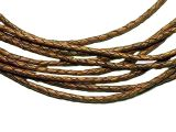 10m Leathercord Braided Antique 4mm Light-Brown