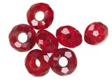 Bighole Beads Crystal Red