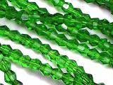 Crystal beads grass green 4mm