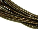 Leathercord Braided Antique 4mm Dark-Brown
