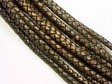 leathercord braided antique 5mm dark brown
