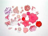 Lucite Flower Mix Pink