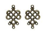 Earring Charm Celtic Knot Antique Brass