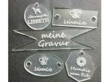 Acrylic Glass Clear 2mm Thick Charms With Laser Engravings