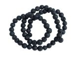 Lavastone Beads 6mm Round Black Strand
