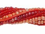Seed Bead Mix Coral-Red