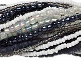 Seed Bead Mix Black And White