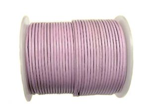 10m Leather Cord 2mm Round Powder Rose