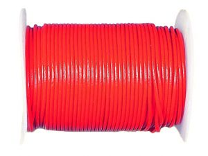 50m Spool Leathercord 2mm Coralred