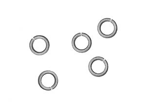 Jumprings 8mm Open 1.3mm Wire Antique Silverplated