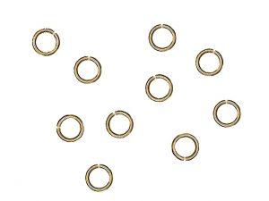 Jumprings Antiqued Goldplated Brass 6mm