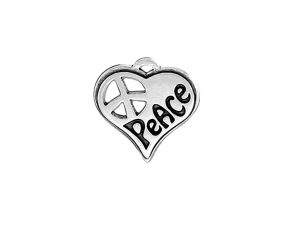 Charm Heart with Peace