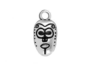 Charm African Mask Silver 925
