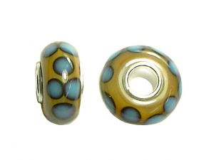 Bighole Bead Blue Dots