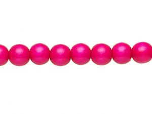 Wood Beads Pink 12mm Round