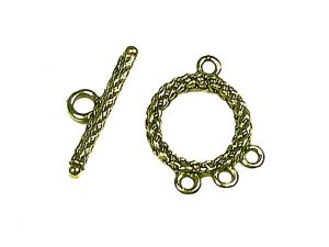 Clasp wowen 3 loops goldplated