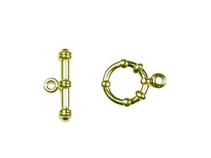 Toggles goldplated Navy Style 3 Pcs