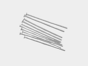 Headpins 0.5mm Silverplated Flathead 2.5cm