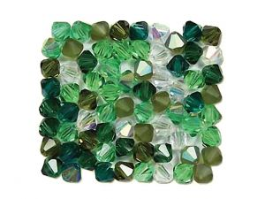 Czech Crystal Beads Evergreen 4mm
