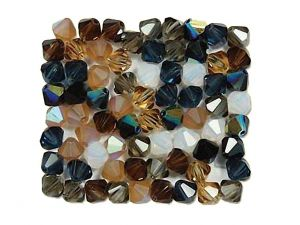 Kristallperlen Bicones Pebblestone 4mm