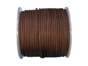 Spool 50m Leathercord 2mm Dyed Brown