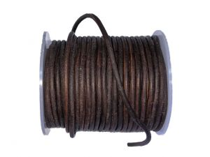 Leathercord 3mm Brown Dyed
